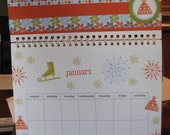 8 1\/2 x 11 Scrapbook Calendar   Fully decorated for each season or holiday