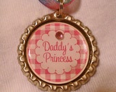 Daddy's Princess Bottle Cap Necklace