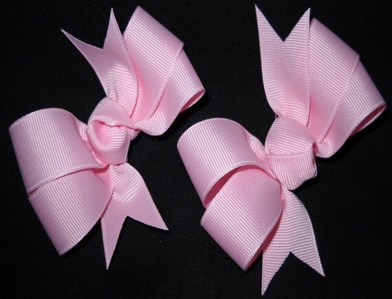 Set of Medium Pigtail Hairbows or Mix and Match