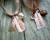 FIGHTER OR FRIEND, you decide... etsyprojectembrace.... a stamped metal pendant necklace