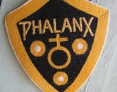 Vintage 1950's Lettermen's Patch, Phalanx, Shield, Yellow & Black, Sports Patch,retro 50's High School collectible, Classic Americana relic