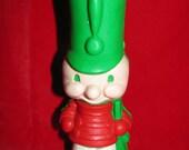 1981 Wizard Solider Boy Air Freshener Figure, Green, Red, Wizard Air Freshener, Decorative