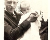 1920's Black & White Photograph, Fathers Day, Proud Papa, Baby Girl, Father, Dad, Best Friend  40i