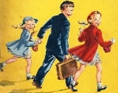 1952 Come With Us by Odille Ousley Childrens School Book, Illustrations by Ruth Steed, Dick & Jane Like, Ginn Company