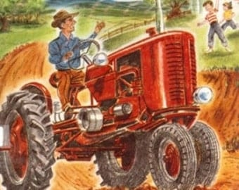 1959 I Want to Be a Farmer, by Carla Greene, Tractor, Plow, Farm, Country Classic 7c