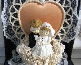 Wedding Cake Topper, Vintage Wedding Cake Topper, Bride, Groom, Antique, Unique, Wedding, Marriage, Cake, Wedding Cake Topper