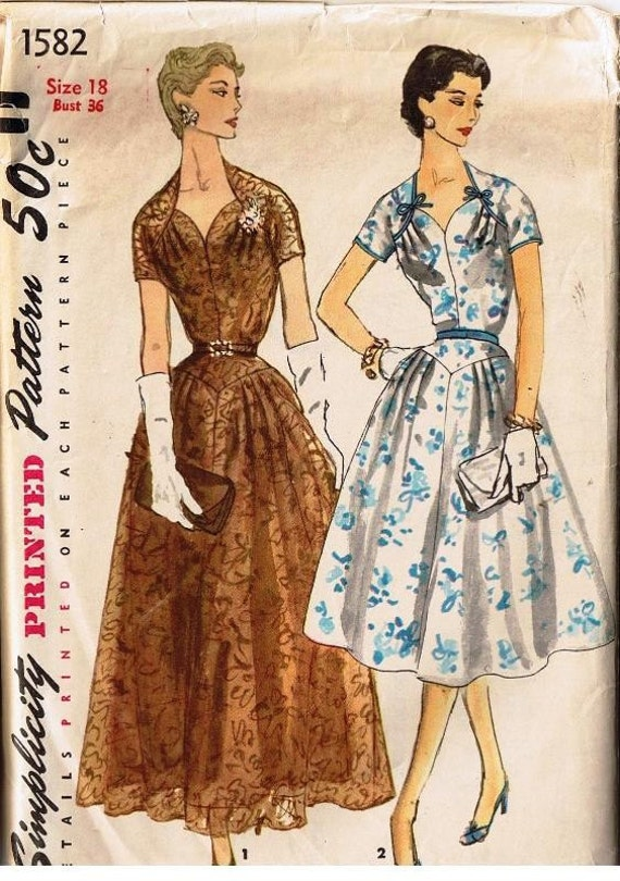 Vintage Simplicity Dress Pattern 1582 sewing patterns sew