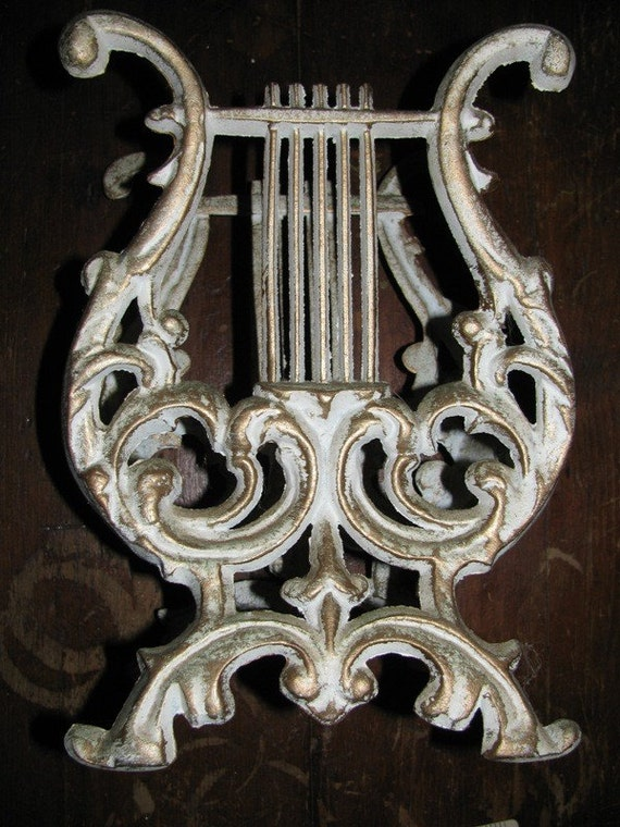 Vintage Cast Metal Music Note Sheet Music By Theidconnection