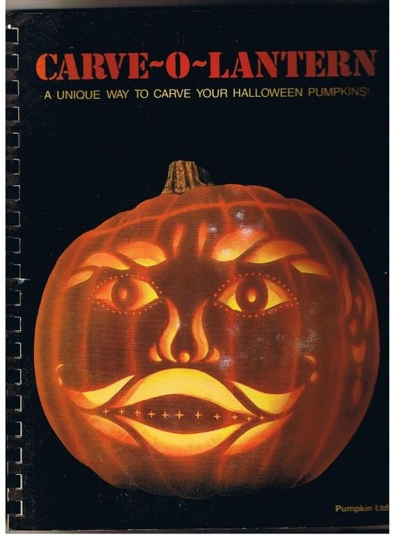 1986 Pumpkin Carving, Halloween, Jack-O-Lantern Pumpkin Carvng Book, Halloween Carving Booklet, Lots of Great Patterns, 18 Pumpkin Patterns, by the Bardeens