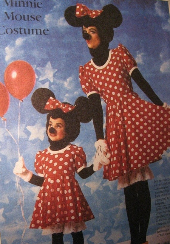 1986 Minnie Mouse Costume Pattern Simplicity Size Medium