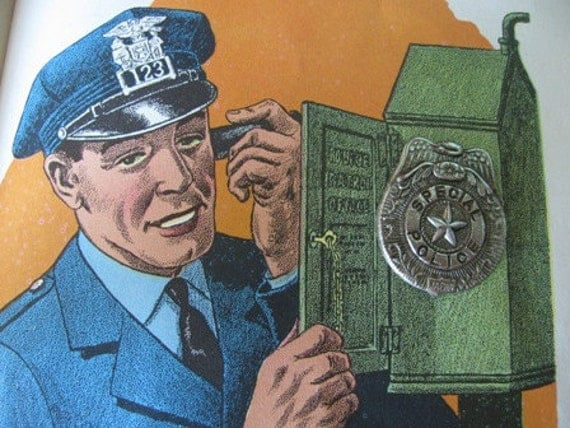 Vintage 1950 S Special Police Badge Tin Toy By Theidconnection
