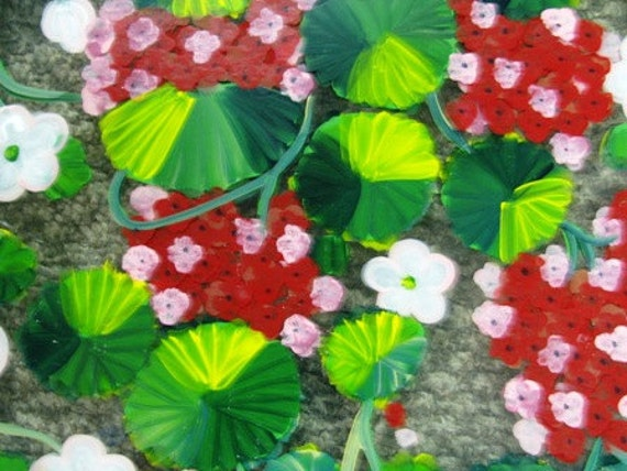1 Hand Painted Window Frames, Stained Glass, Plexie Glass, Flowers, Floral Pattern, Spring Time, Window Treatments, Sun Catchers, Shabby