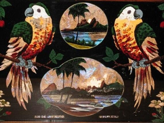 Reverse Glass Painting Brasil