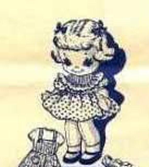 1950's Laura Wheeler Design Baby Doll Pattern 557, Little Girls Toy, Craft Pattern