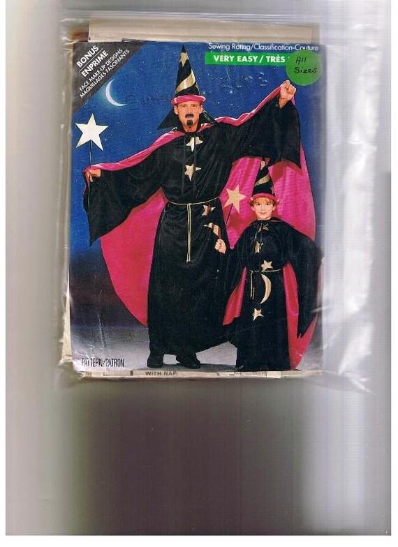 WIZARD, MERLIN, Butterick Wizard Merlin Costume UNCUT Pattern, All Sizes, Cape, Magic Magician sewing patterns