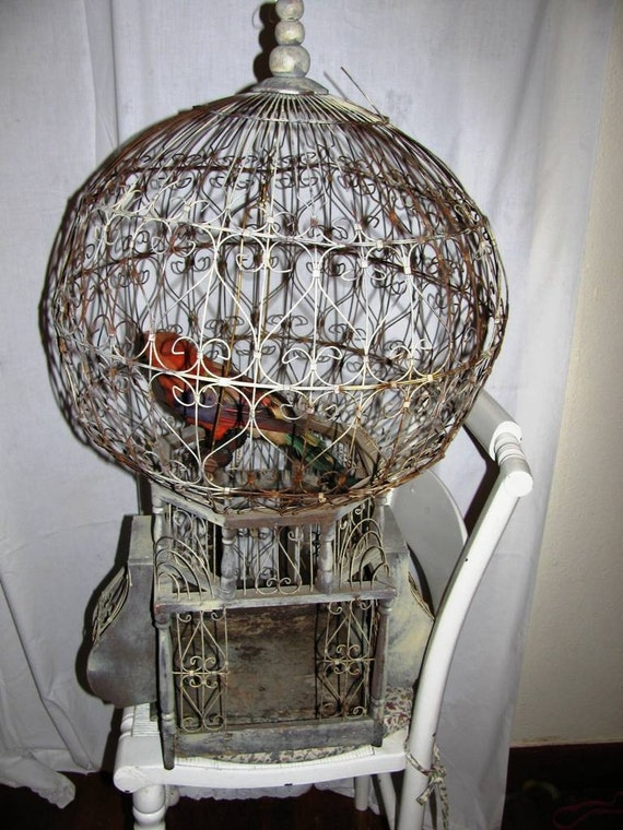 Bird Cage 1800 S Victorian Bird Cage Wire And Wood