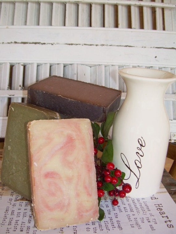 VALENTINES Sweetheart Soap SPECIAL Homemade Large 6oz Bar of Natural Soap ( Buy 3 for 13.00 YOU pick the Scents)