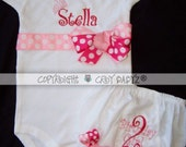 Custom Princess Crown Bodysuit with Coordinating Birthday Bloomers As GIFTED To TORI SPELLING