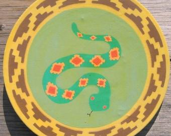 Southwest Wall Art Diamond Back Sidewinder Signed Original One of a Kind