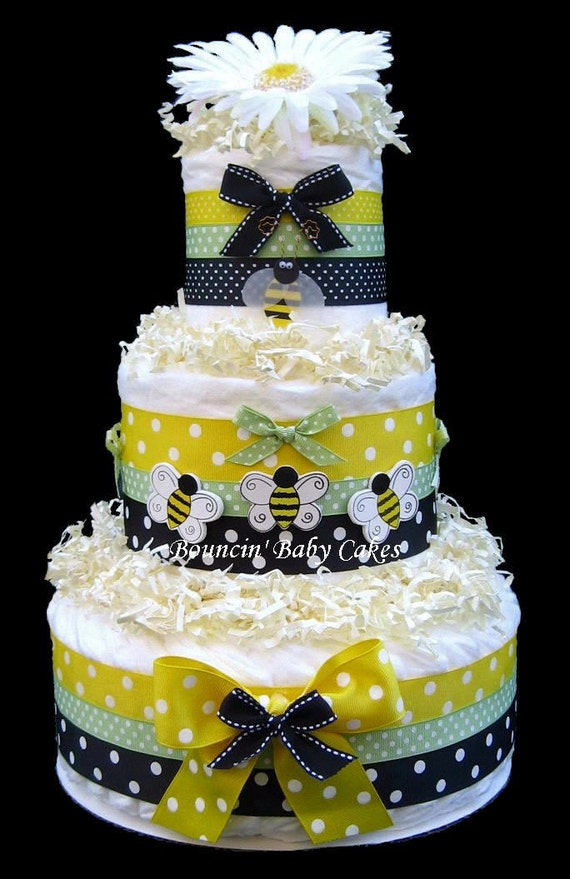 Bumble Bee Diaper Cake Baby Shower Gift