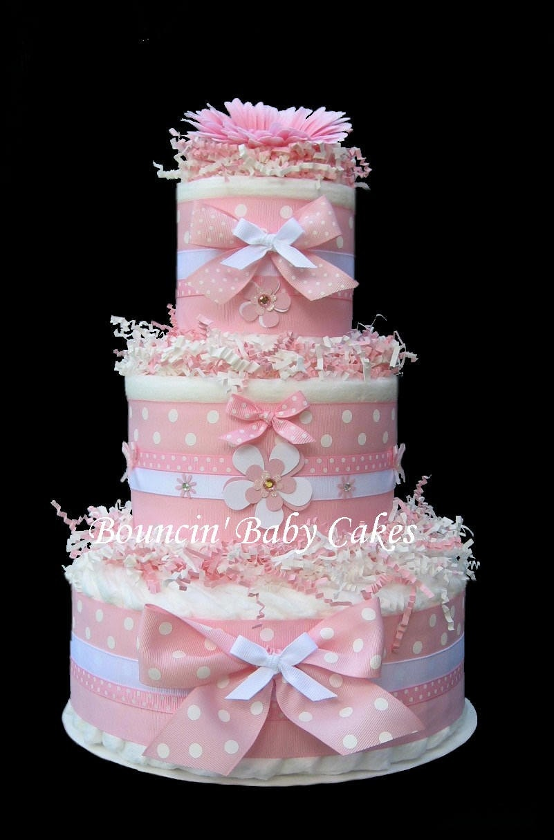 Diaper Cake Girl Cake Ideas and Designs
