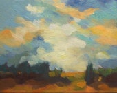 """AN OPENING, oil painting, 100% charity donation, original painting, 6""""x8"""" on canvas panel"""