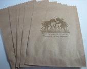 Stamped Silhoutte Friendships Garden Image - Paper Bag Set