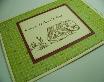 Handmade Happy Father's Day Fishing Greeting Card