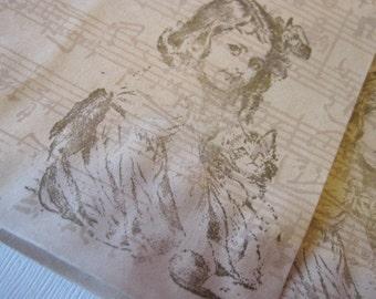 Brown Paper Favor Bag - Vintage Girl