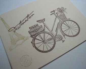 Vintage Style Postcard Set - Destination Paris