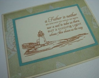 Handmade Father's Day Greeting Card - Lighthouse