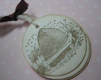 Handmade Beehive Gift Tags