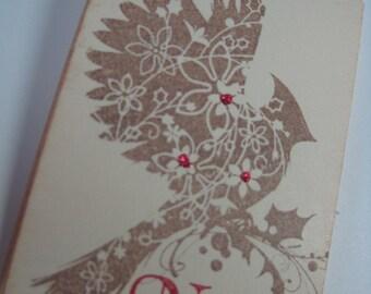 Handmade Bird Gift Tags - Christmas Noel