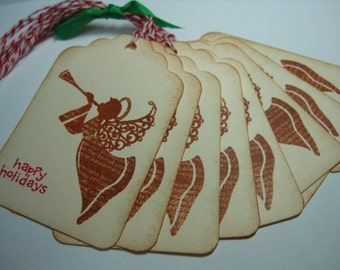 Christmas Gift Tag - set of 8 - Angel