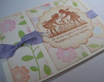 Handmade Greeting Card - Friendships Garden