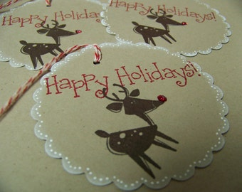 Stampin up Ruldolph Christmas in July tags