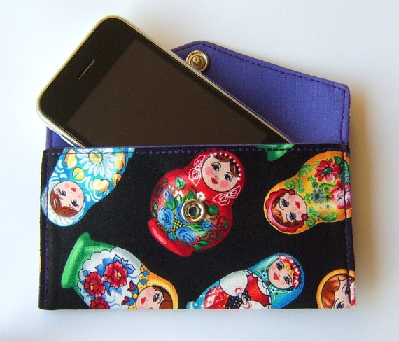 Case for Iphone or Ipod in rare russian doll fabric