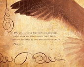Scripture Art - Bible Verse Photo - COVERED - Psalm 91