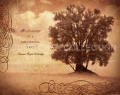 Inspirational Quote - Friendship Gift - Friendship Is a Sheltering Tree - Coleridge Quote