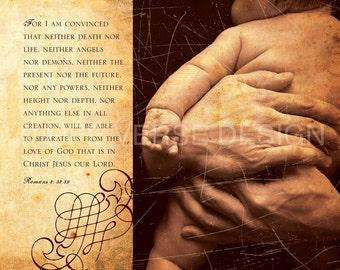 Scripture Art Canvas - Bible Verse Art - Christian Home Decor - NOTHING can SEPARATE you- Romans 8 - God's Promises