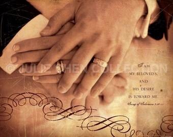 Religious Wedding Gift - Christian Wedding Gift - Wedding Art - Wedding Decor - Anniversary Gift - Love - MY BELOVED - Song of Solomon 7 Art