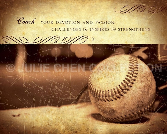 BASEBALL COACH Keepsake Art 8x10 Fine Art Print