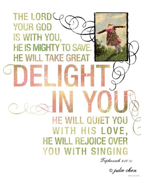 CONTEMPORARY Scripture Art - Rejoice Over You - Zephaniah 3