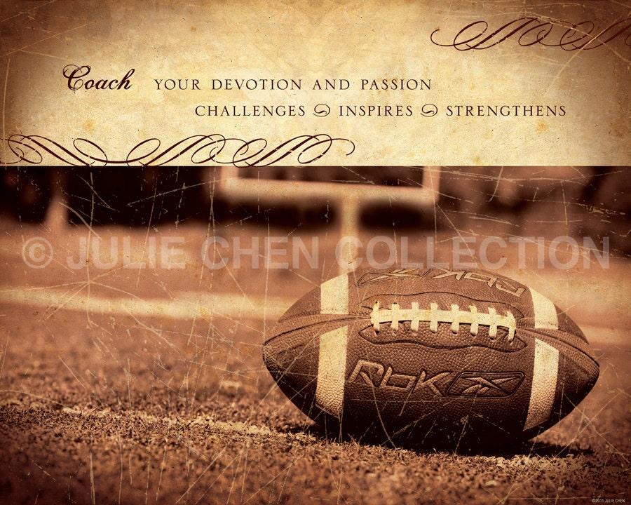 personalized football coach gift football coach keepsake