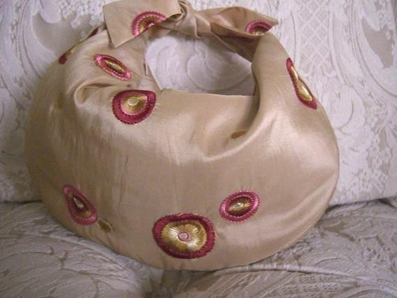 Cute Embroidered Retro Hobo Handbag, Bag, Purse.