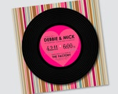 Wedding Invitation Debbie - Vinyl Record Design - Samples available