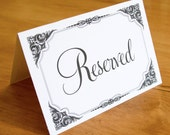 Wedding Reception or Ceremony Reserved Sign - Chose Color and Design