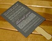 Custom Fan Wedding Programs - Choose Design and Colors