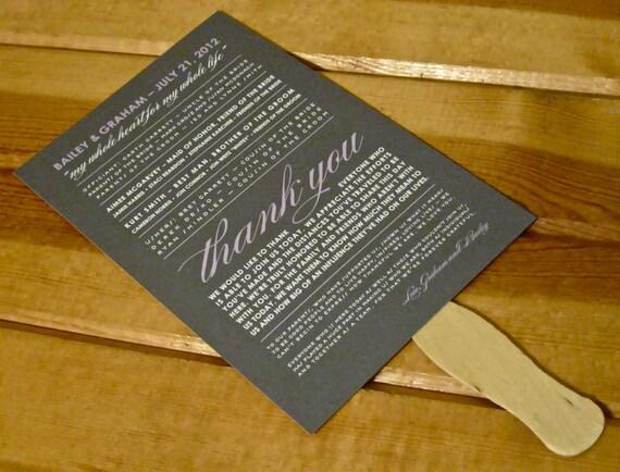 Custom Fan Wedding Programs - Choose Design and Colors