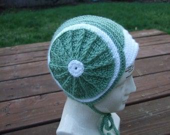 Green Circle Hat - Size 12-18 Months - Retro toddler hat